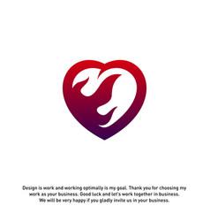 Fire love creative logo concepts flame logo vector