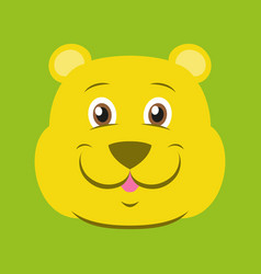 Flat icons on theme funny animals bear vector