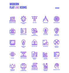 Flat line gradient icons design-graphic design vector
