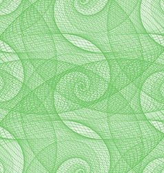 Green seamless wired swirl fractal pattern vector