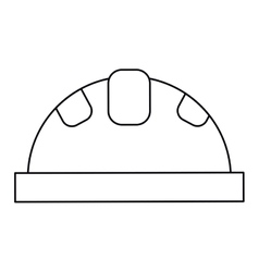 Helmet protective head construction security vector