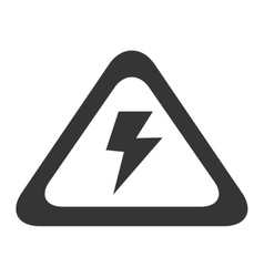 high voltage electricity sign icon graphic vector image
