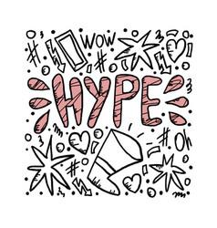 Hype handwritten lettering vector
