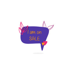 i am on sale shopping sign for super sale vector image