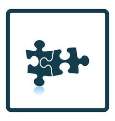 Icon of puzzle decision vector