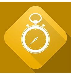 Icon of stop watch with a long shadow vector