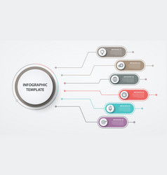 infographics circles 6 options or steps business vector image