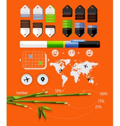 infographics with bamboo shoots vector image