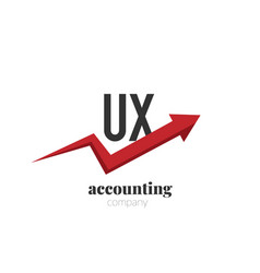 initial letter ux creative finance - money vector image