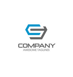 letter cs logo vector image
