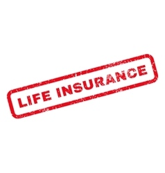 Life Insurance Rubber Stamp vector