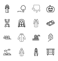 linear icons vector image