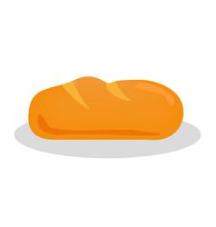 Long loaf icon bread design vector