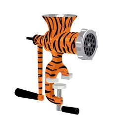 manual meat grinder vector image
