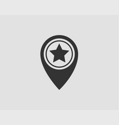 map icons marker pointer pin location icon gps vector image