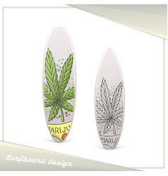 Medical marijuana surfboard ten vector