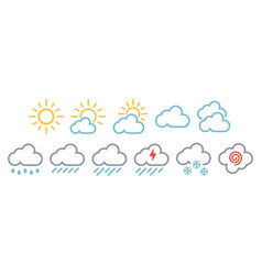 minimal simple weather reports icons vector image