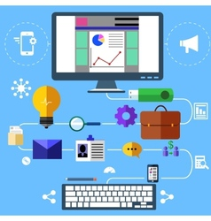 Modern marketing process vector image