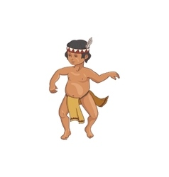 native american dancing indian boy in traditional vector image