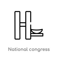 Outline national congress brazil icon isolated vector