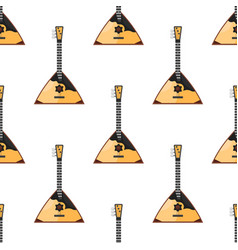 pattern with russian traditional balalaika vector image