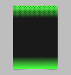 retro halftone pattern brochure design - page vector image