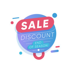 sale discount label end season shopping vector image