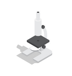 scientific microscope isolated vector image