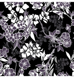 Seamless pattern with blossoming cherry or sakura vector image