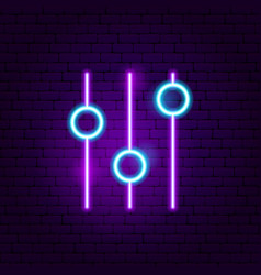 setting neon sign vector image