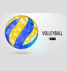 Silhouette of a volleyball ball vector