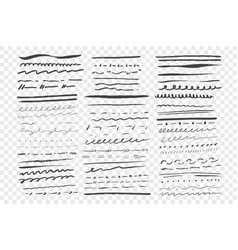 Sketch underlines set vector