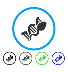 Sperm replication rounded icon vector