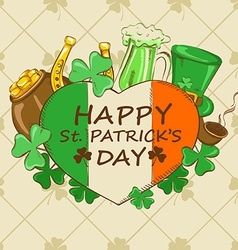 St Patricks Day greeting card vector
