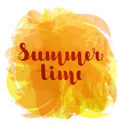summer time lettering on background imitation vector image