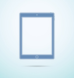 Tablet flat icon on blue background vector image vector image