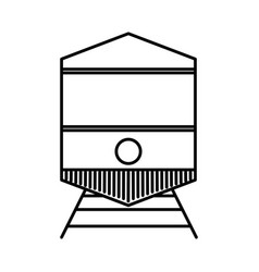 Tram vehicle icon vector