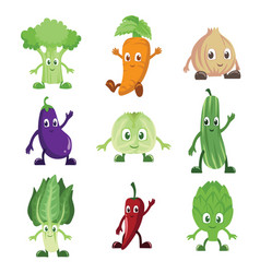 Vegetables characters vector