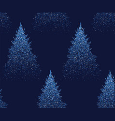 winter seamless pattern with fir trees and pines vector image