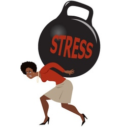 Woman and stress vector image