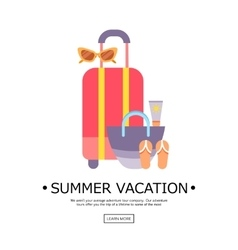World Travel Vacations Summer holiday Tourism vector image