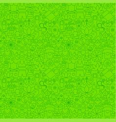 yoga meditation line seamless pattern vector image