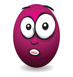 emotions eggs coloured shocked vector image