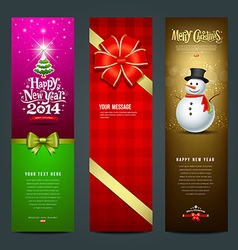 Happy new year 2014 banner design collections vector