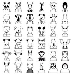 Line animals icon vector image vector image