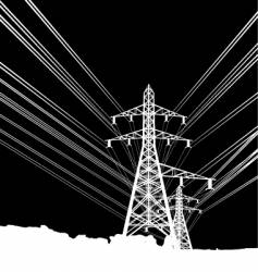 power lines vector image vector image