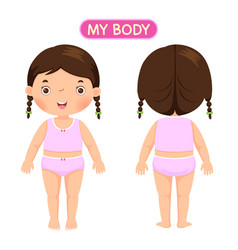 a girl showing parts of the body vector image vector image