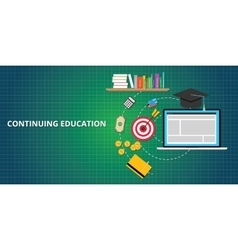 continuing education process vector image