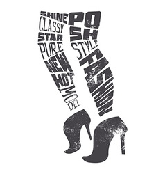 Fashion shoes to print T-shirts vector image