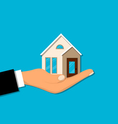 house or home on hand vector image